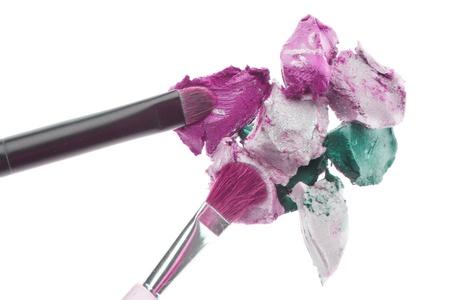 cream eyeshadows  isolated on white background Stock Photo - 16470835