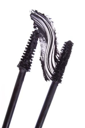 black mascara stroke isolated on white background Stock Photo - 16871463