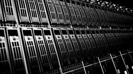 Centro de datos con unidades de disco duro