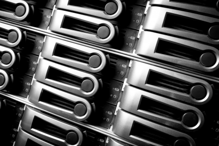 detail of data center with hard drives Stock Photo - 17102004