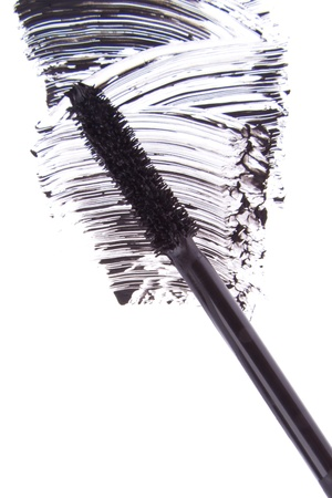 black mascara stroke isolated on white background Stock Photo - 17676971