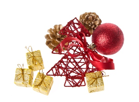 christmas decoration isolated on white background Stock Photo - 17733075