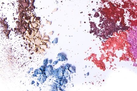 eyeshadow palette on white background photo