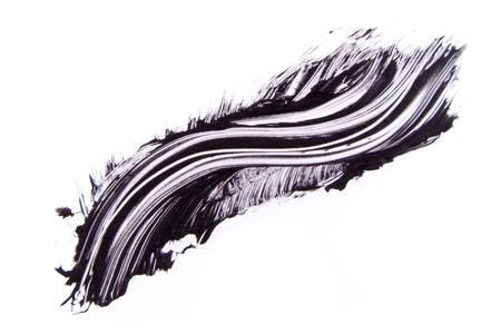 black mascara stroke isolated on white background Stock Photo - 17918901