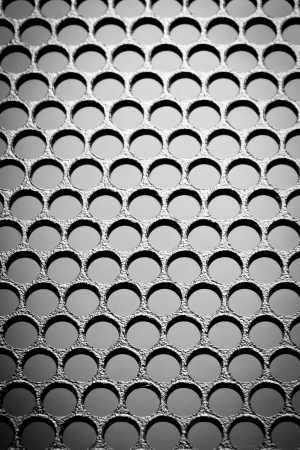 abstract metal grid background Stock Photo - 19101873