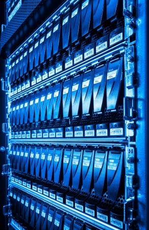 hard drives in data center photo
