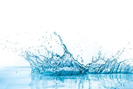 water to flow: water splash isolated on white background