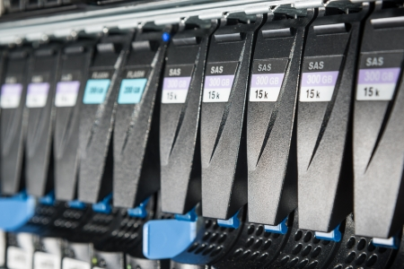 close-up of hard drives in data center Stock Photo - 21729668
