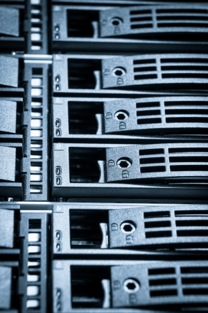close-up of hard drives in data center Stock Photo - 21729942
