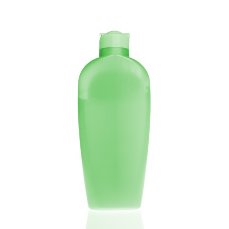 cosmetic bottle isolated on white background photo