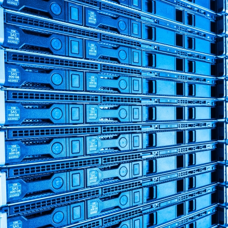 hardware in internet data center room photo