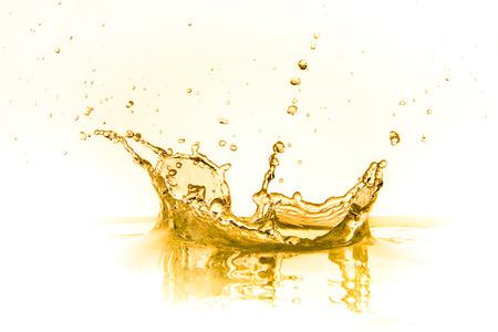 Orangensaft splash isoliert auf weißem Hintergrund Standard-Bild - 22377067