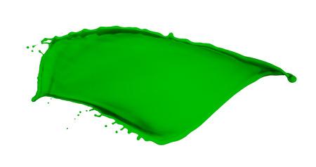 green paint splash isolated on white  photo