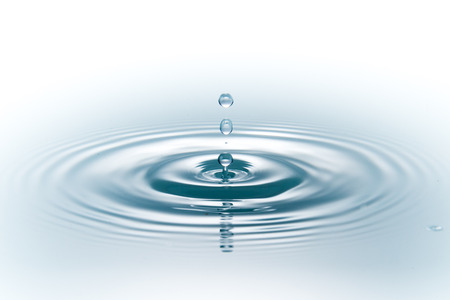 drop of water on white Stok Fotoğraf - 22548757