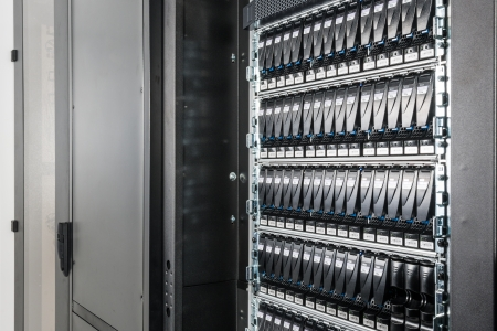 hard drives in data center photo