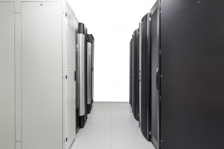 network server room with racks photo