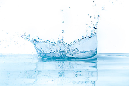 water ripples: water splash isolated on white background