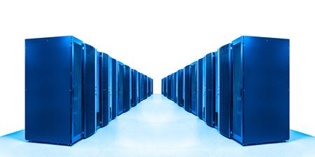 network server room with racks photo