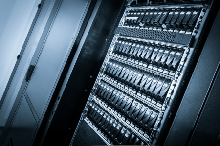 close-up of hard drives in data center Stock Photo - 23370499