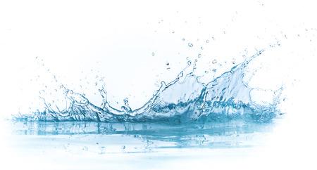 CLaboussures d'eau isolé sur fond blanc Banque d'images - 23957681