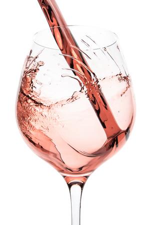 Rosé-Wein Spritzwasser auf weißem Hintergrund Standard-Bild - 24696325