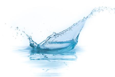 Spritzwasser isoliert auf weiß Standard-Bild - 24902247