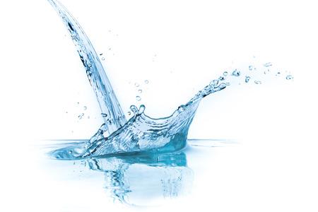 Water splash geïsoleerd op witte achtergrond Stockfoto - 26231068