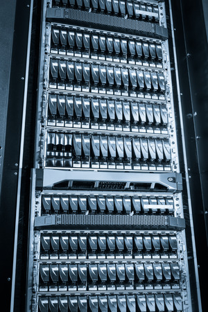 hard drives in data center Stock Photo - 26701750