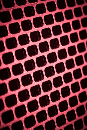 closeup of seamless  metallic grid photo