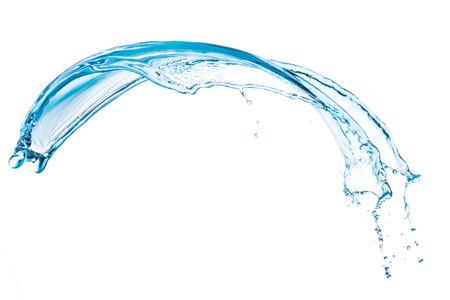blauw water splash geïsoleerd op witte achtergrond