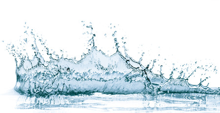CLaboussures d'eau isolé sur fond blanc Banque d'images - 31677448