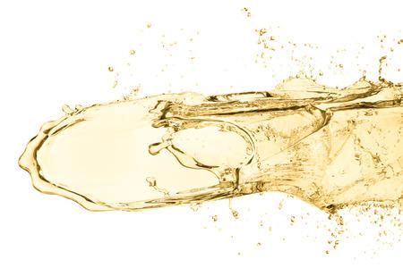 splash of white wine, isolated on white background photo