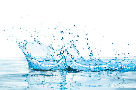 water splash with reflection photo