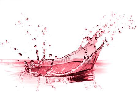 Rotwein Spritzwasser isoliert auf weiß Standard-Bild - 33461010