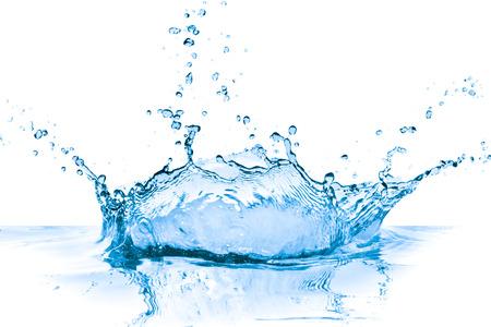 Salpicaduras de agua azul sobre fondo blanco Foto de archivo - 36230089