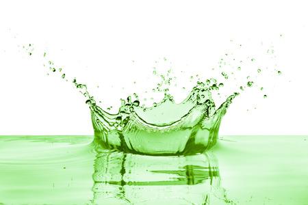 green liquid splash on white background Stock Photo
