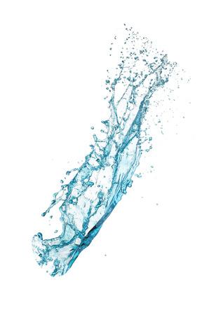 turquoise water splash isolated on white background Stock Photo