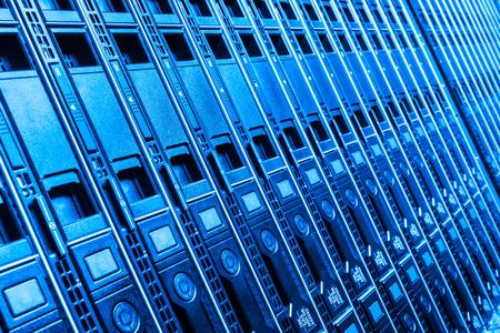 hardware in internet data center room Standard-Bild