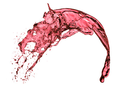 red wine splash, isolated on white background Imagens
