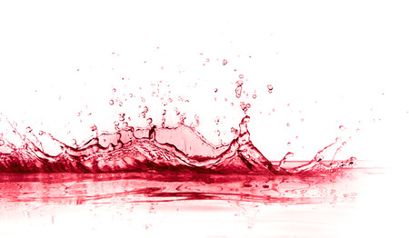 red wine splash isolated on white background 版權商用圖片