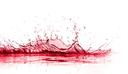 red wine splash isolated on white background Standard-Bild