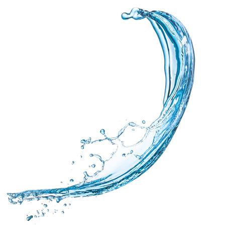 Salpicaduras de agua azul sobre fondo blanco aisladas Foto de archivo - 41019565