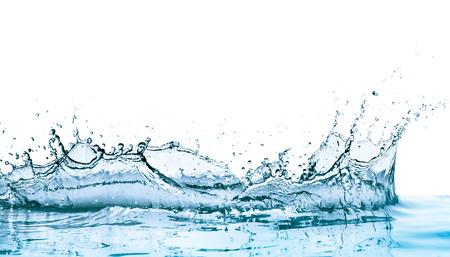 water splash: salpicaduras de agua con la reflexi�n, aislado
