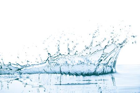Spruzzi d'acqua con la riflessione, isolato Archivio Fotografico - 44149640