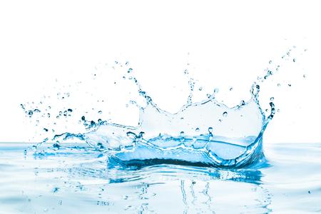 反射と水のしぶき