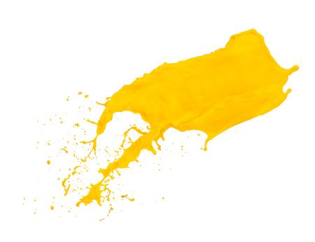 yellow paint: yellow paint splash isolated on white background