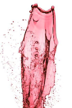 abstract liquor: red wine splash, isolated on white background Stock Photo