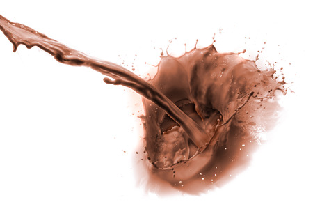 pouring chocolate drink, isolated on white background Reklamní fotografie