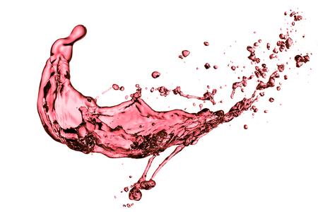 red wine splash, isolated on white background Фото со стока