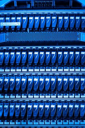webserver: hard drives in data center Stock Photo